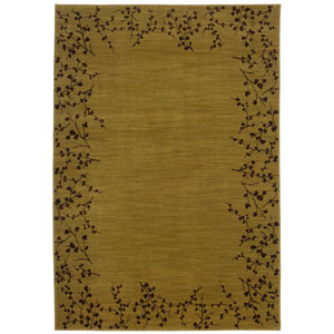 Allure Yellow Rectangle: 5 ft. 3 in. x 7 ft. 6 in. Rug