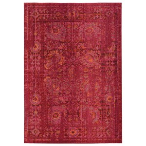 Expressions Pink and Red Rectangular: 5 Ft. 3 In. x 7 Ft. 6 In. Rug
