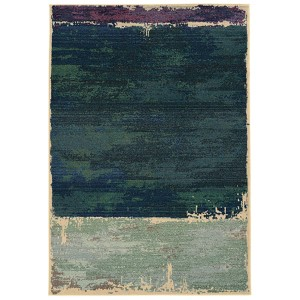 Expressions Blue and Purple Rectangular: 5 Ft. 3 In. x 7 Ft. 6 In. Rug
