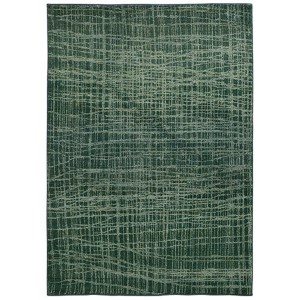 Expressions Blue and Green Rectangular: 5 Ft. 3 In. x 7 Ft. 6 In. Rug