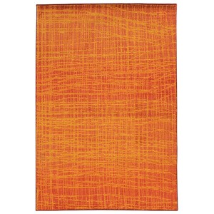 Expressions Orange and Yellow Rectangular: 5 Ft. 3 In. x 7 Ft. 6 In. Rug