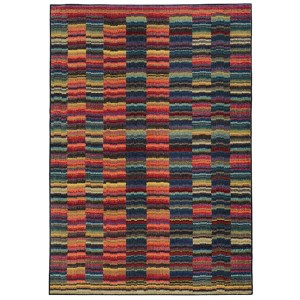 Expressions Red and Blue Rectangular: 5 Ft. 3 In. x 7 Ft. 6 In. Rug