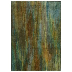 Prismatic Green and Blue Rectangular: 5 Ft. 3 In. x 7 Ft. 6 In. Rug