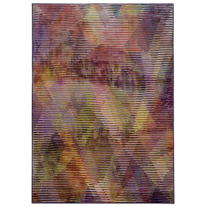 Prismatic Purple and Lavender Rectangular: 5 Ft. 3 In. x 7 Ft. 6 In. Rug