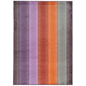Prismatic Red Rectangular: 6 Ft. 7 In. x 9 Ft. 6 In. Rug