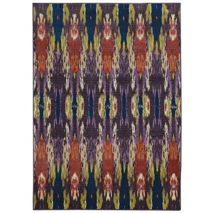 Prismatic Purple and Blue Rectangular: 6 Ft. 7 In. x 9 Ft. 6 In. Rug