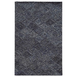 Colorscape Blue and Grey Rectangular: 5 Ft. x 8 Ft. Rug