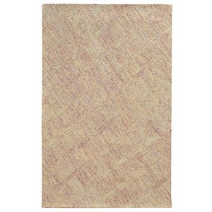Colorscape Pink and Beige Rectangular: 5 Ft. x 8 Ft. Rug