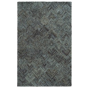 Colorscape Charcoal and Blue Rectangular: 5 Ft. x 8 Ft. Rug