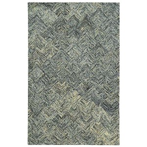 Colorscape Charcoal and Beige Rectangular: 5 Ft. x 8 Ft. Rug