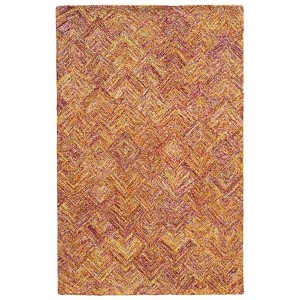 Colorscape Orange and Pink Rectangular: 5 Ft. x 8 Ft. Rug