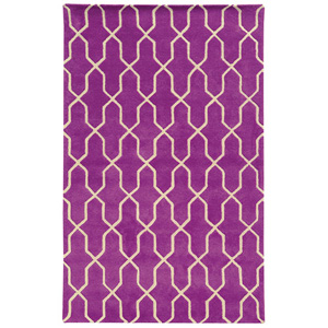 Optic Purple and Ivory Rectangular: 5 Ft. x 8 Ft. Rug