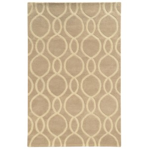 Optic Beige and Ivory Rectangular: 5 Ft. x 8 Ft. Rug