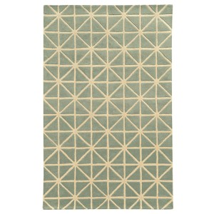 Optic Grey and Ivory Rectangular: 5 Ft. x 8 Ft. Rug