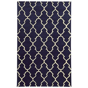 Optic Navy and Ivory Rectangular: 5 Ft. x 8 Ft. Rug