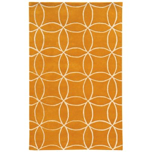 Optic Yellow and Ivory Rectangular: 5 Ft. x 8 Ft. Rug