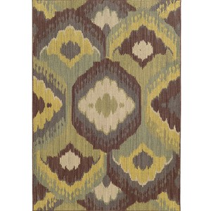 Cabana 929N2 Brown and Blue Rectangular: 7 Ft. 10 In. x 10 Ft. 10 In. Rug