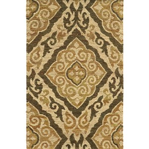 Valencia 57705 Beige and Gold Rectangular: 5 Ft. x 8 Ft. Rug