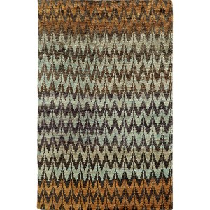 Ansley 50908 Brown and Blue Rectangular: 5 Ft. x 8 Ft. Rug