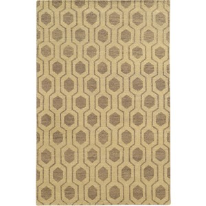 Maddox 56505 Beige and Stone Rectangular: 5 Ft. x 8 Ft. Rug