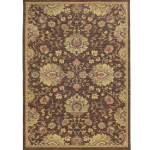 Cabana 002N2 Brown and Beige Rectangular: 7 Ft. 10 In. x 10 Ft. 10 In. Rug