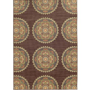Cabana 501M2 Multi-Color Rectangular: 7 Ft. 10 In. x 10 Ft. 10 In. Rug