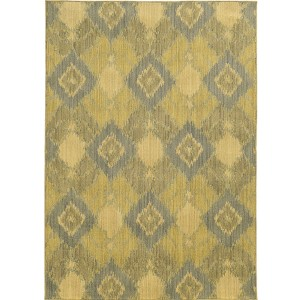 Cabana 5994G Green and Blue Rectangular: 5 Ft. 3 In. x 7 Ft. 6 In. Rug