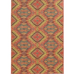 Cabana 621C2 Pink and Blue Rectangular: 7 Ft. 10 In. x 10 Ft. 10 In. Rug