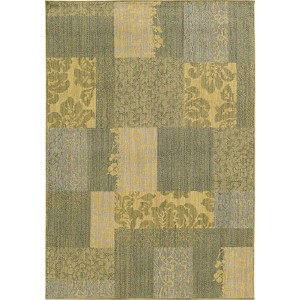 Cabana 091G2 Blue and Beige Rectangular: 5 Ft. 3 In. x 7 Ft. 6 In. Rug