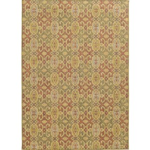 Cabana 5501W Pink and Green Rectangular: 7 Ft. 10 In. x 10 Ft. 10 In. Rug