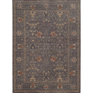 Vintage 534K2 Blue and Gold Rectangular: 5 Ft. 3 In. x 7 Ft. 6 In. Rug