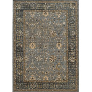 Vintage 53400 Blue and Beige Rectangular: 5 Ft. 3 In. x 7 Ft. 6 In. Rug