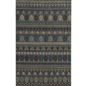 Vintage 59100 Blue and Blue Rectangular: 5 Ft. 3 In. x 7 Ft. 6 In. Rug