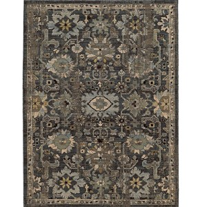Vintage 668N2 Blue and Grey Rectangular: 5 Ft. 3 In. x 7 Ft. 6 In. Rug