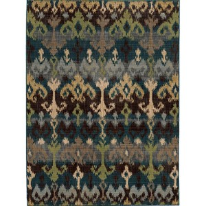 Vintage 8122N Multi-Color Rectangular: 5 Ft. 3 In. x 7 Ft. 6 In. Rug