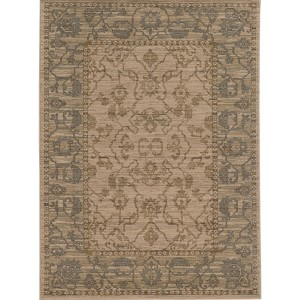 Vintage 4928U Beige and Blue Rectangular: 5 Ft. 3 In. x 7 Ft. 6 In. Rug