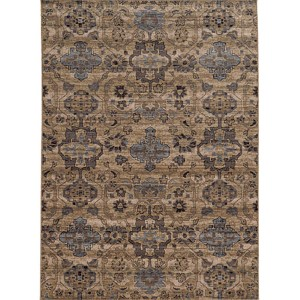 Vintage 4929Y Beige and Blue Rectangular: 5 Ft. 3 In. x 7 Ft. 6 In. Rug