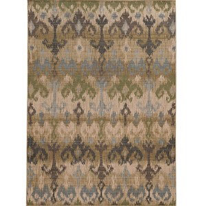 Vintage 8122W Beige and Blue Rectangular: 5 Ft. 3 In. x 7 Ft. 6 In. Rug