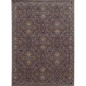 Vintage 5509D Brown and Blue Rectangular: 5 Ft. 3 In. x 7 Ft. 6 In. Rug