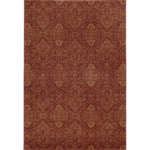 Voyage 091R0 Red and Beige Rectangular: 5 Ft. 3 In. x 7 Ft. 6 In. Rug