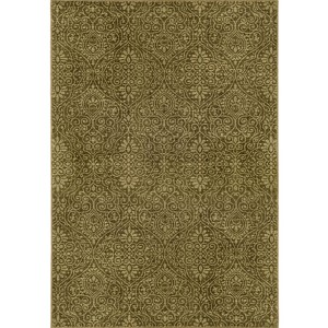Voyage 091P0 Green and Beige Rectangular: 5 Ft. 3 In. x 7 Ft. 6 In. Rug