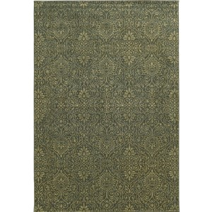 Voyage 091L0 Blue and Beige Rectangular: 5 Ft. 3 In. x 7 Ft. 6 In. Rug