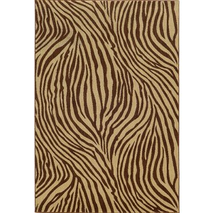 Voyage 093N0 Beige and Brown Rectangular: 5 Ft. 3 In. x 7 Ft. 6 In. Rug