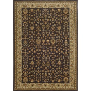 Voyage 116K0 Charcoal and Gold Rectangular: 5 Ft. 3 In. x 7 Ft. 6 In. Rug