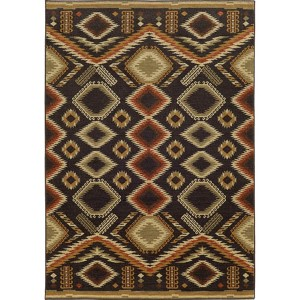 Voyage 5505K Black and Beige Rectangular: 5 Ft. 3 In. x 7 Ft. 6 In. Rug