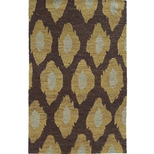 Valencia 57708 Black and Gold Rectangular: 5 Ft. x 8 Ft. Rug