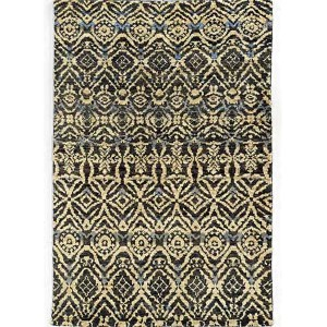 Ansley 50904 Black and Beige Rectangular: 5 Ft. x 8 Ft. Rug