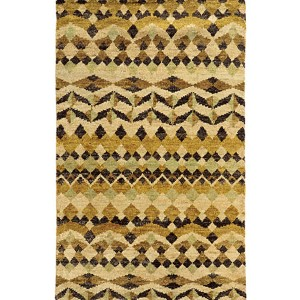 Ansley 50906 Beige and Gold Rectangular: 5 Ft. x 8 Ft. Rug