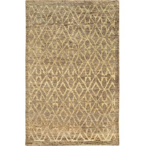 Ansley 50907 Taupe and Beige Rectangular: 5 Ft. x 8 Ft. Rug