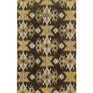 Jamison 53305 Black and Gold Rectangular: 5 Ft. x 8 Ft. Rug